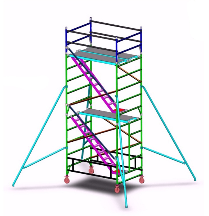 aluminium Industrial scaffold tower